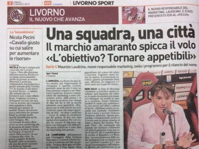 Una squadra, una città – Il Telegrafo, Livorno Sport, 2 agosto 2017