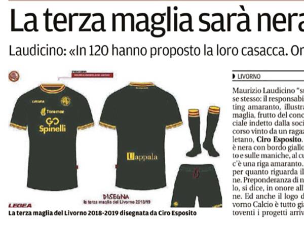 La terza maglia sarà nera (e gialla) come l'Aek – Il Tirreno, 8 giugno 2018