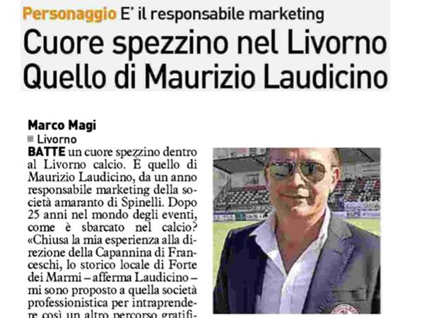 Cuore spezzino nel Livorno, quello di Maurizio Laudicino – La Nazione, 27 luglio 2018