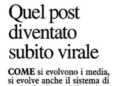 Quel post diventato subito virale – Il Telegrafo, 12 luglio 2018