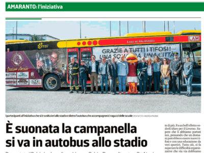 È suonata la campanella si va in autobus allo stadio – Il Tirreno, 5 ottobre 2018