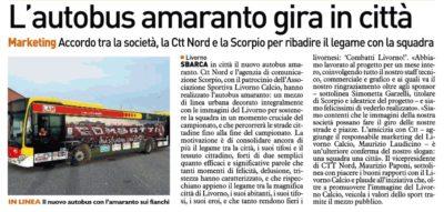 Autobus Amaranto gira in città – Telegrafo 05 Aprile 2018