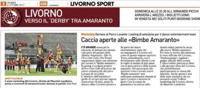 Casting aperto per il dance entertainment – Quotidiano Sportivo, 06 Ottobre 2017
