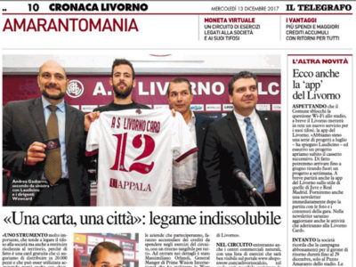 Una carta, una città: legame indissolubile – Il Telegrafo, Cronaca Livorno, 13 dicembre 2017
