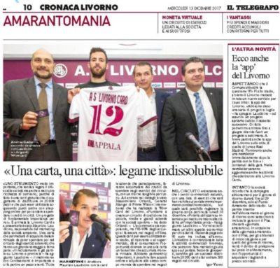 Arriva la Livorno card – Telegrafo, 13 Dicembre 2017