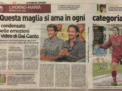 Questa maglia si ama in ogni categoria – Il Telegrafo, Livorno Sport, 2 agosto 2017