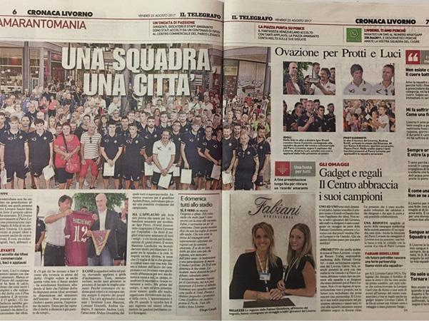 Una squadra, una città: tutti allo stadio domenica – Il Telegrafo, Cronaca Livorno, 25 agosto 2017
