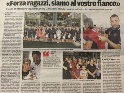 Forza ragazzi, siamo al vostro fianco – Il Tirreno, Livorno Sport, 25 agosto 2017
