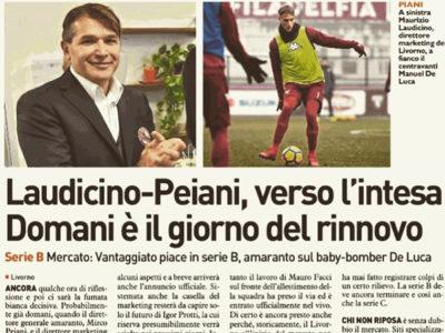 Laudicino-Peiani, verso l'intesa – Il Telegrafo, 30 maggio 2018