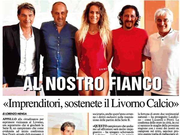 Imprenditori, sostenete il Livorno calcio – Il Tirreno, 12 luglio 2018