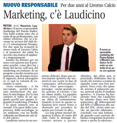 Marketing Pistoia Basket -Il Giornale di Pistoia, 7 giugno 2019
