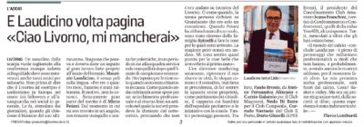 Laudicino lascia Livorno Calcio – Il Tirreno, 1 giugno 2019