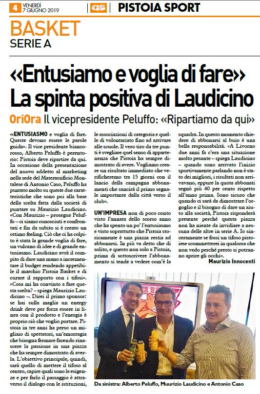 Entusiasmo e voglia di fare – Quotidiano Sportivo Pistoia Sport, 7 giugno